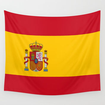 Flag of spain-spain,flag,flag of spain,espana,spanish,espanol,Castellano,Madrid,Barcelona, Wall Tapestry by oldking