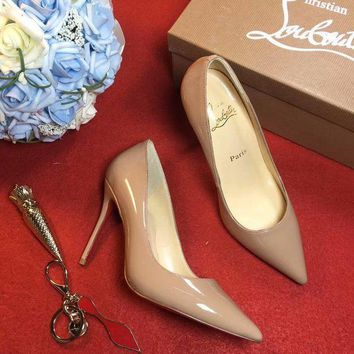 DCCK2 Christian Louboutin CL 100mm Patent Leather High Heels W03