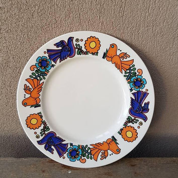 Villeroy Boch Acapulco Side Plate , Sandwich Plate , Cake Plate , Mid Century , Acapulco Replacement Plate
