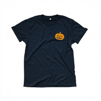 Halloween pumpkin t-shirt funny pocket shirt womens gift girl teens fashion sassy cute tumblr tees grunge hipster graphic tee