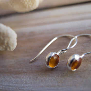 Amber Jewelry, Amber Earrings, Sterling Silver Earrings, Silver Dangle Earrings, Hook Earrings, Minimalist Jewelry, Drop earrings, Boho