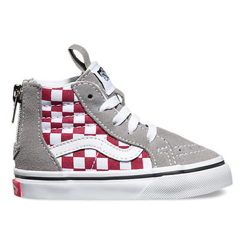Toddlers Checkerboard Sk8-Hi Zip | Shop Toddler Shoes at Vans