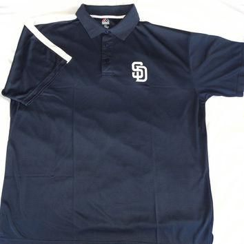 San Diego Padres Majestic Top of the Inning Polo Shirt Size 2XL