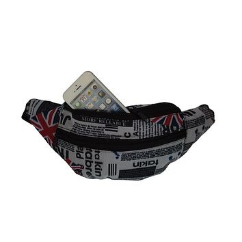 AFONiE Fabric UK Newspaper Waist Pouch
