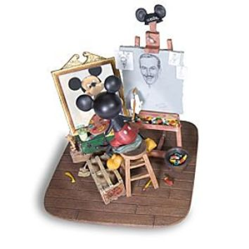 Self-Portrait Walt Disney and Mickey Mouse Figurine | Disney Store