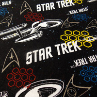 Star Trek Fabric Trekkies Star Trek Movie Fabric Enterprise Fabric Outer Space Fabric Craft Fabric Cotton Fabric