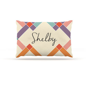 "KESS Original ""Shelby"" Colorful Geometry Dog Bed"