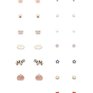 Cupcake Stud Earring Set