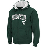 Stadium Athletic Michigan State Spartans Green Double Arches Pullover Hoodie