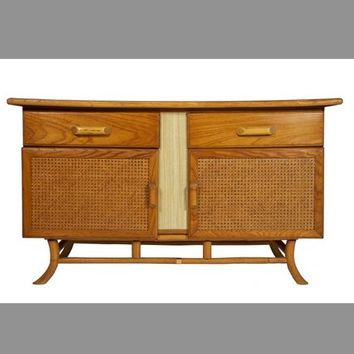 Mid Century Asian Style Credenza Cabinet Table 60s