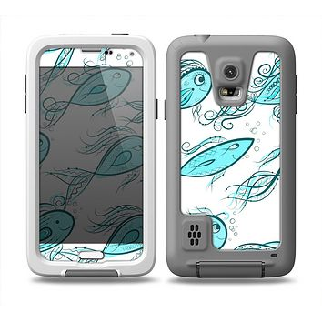 The Teal Fishies Skin Samsung Galaxy S5 frē LifeProof Case
