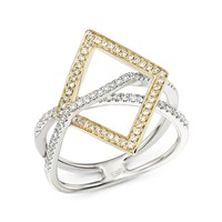 Bloomingdale'sDiamond Geometric Statement Ring in 14K White and Yellow Gold, .40 ct. t.w.