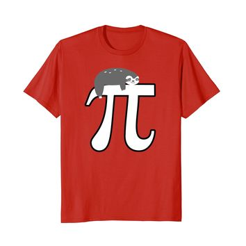 Pi Day 2018 Shirt Sloth Men Women Kids Math Lover Nerd Gift