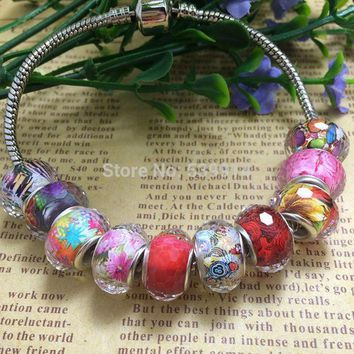 Free Shipping 100pcs/lot 14mm Multi Faceted Big Hole Loose Beads Fit European Pandora Jewelry Bracelet Charms Diy