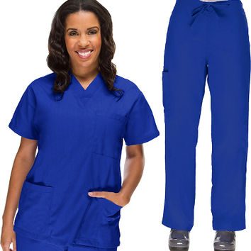 Basics by allheart Women's Scrub Set