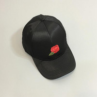 Female summer Korean fashion personality rose embroidery baseball cap