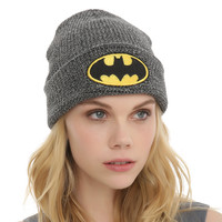 Batman cold cap Men's and women's autumn/winter warm knitted cap sleeve hat on her head