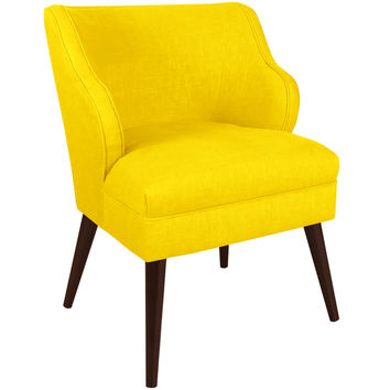 Made to Order Modern Chair in Twill Bright Yellow | Overstock.com Shopping - The Best Deals on Living Room Chairs
