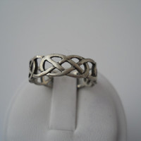 Sterling Silver 925 Celtic Style Eternity Knot Ring Size 10 MC Marsala