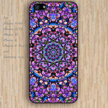 iPhone 5s 6 case colorful abstract flowers mandala phone case iphone case,ipod case,samsung galaxy case available plastic rubber case waterproof B307