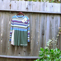 Eco Friendly Funky Baby Doll Tattered Sweater Dress/ by KheGreen