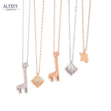 New fashion jewelry Elephant giraffe love pendant necklace  gift for women girl N1738