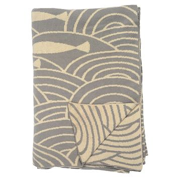 The Grey By the Sea Reversible Patterned Throw