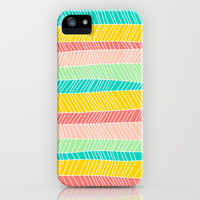 Beach Stripe (Vintage Candy) iPhone & iPod Case by Jacqueline Maldonado