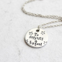 "Stamped Toy Story ""To infinity & beyond"" Necklace"