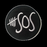5 Seconds Of Summer 5 SOS Embroidered Iron On Badge Patch