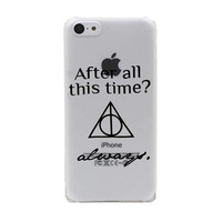 Harry Potter Quote and Deathly Hallows Symbol Hard Transparent Case Cover for iPhone 7 5 5S SE 5C 4 4S  6 6S Plus