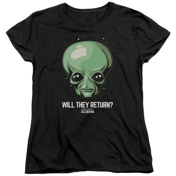 Ancient Aliens - Will They Return Short Sleeve Women's Tee