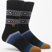 Stance Bullets Striped Crew Socks - Mens Socks - Black - One