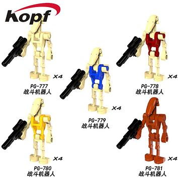 Single Sale 4Pcs/Set Star Wars Rogue One Combat Robot Doath Trooper K-2SO Bricks Model Building Blocks Children Gift Toys PG8099