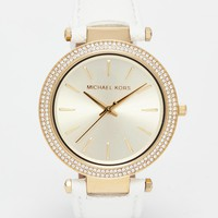 Michael Kors Darci Watch With Leather Strap MK2391