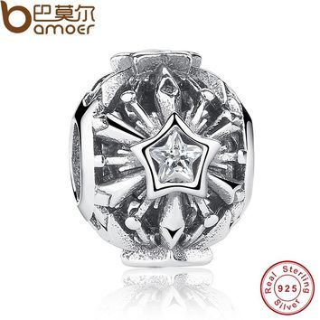 Presents 925 Sterling Silver Winter Snowflakes Charms Fit Bracelet & Necklace Sterling Silver Jewelry Accessories PAS214