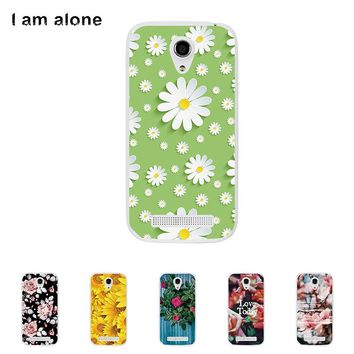 For Fly IQ4404 Spark Solf TPU Silicone Case Flower Mobile Phone Cover Bag Cellphone Housing Shell Skin Mask DIY Customize Case