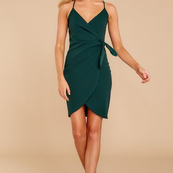 Saw It First Hunter Green Dress