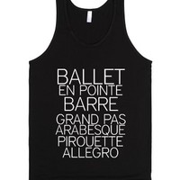 Ballet Dancer-Unisex Black Tank