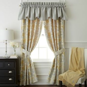 Waterford® Linens Eveleen Scalloped Window Valance