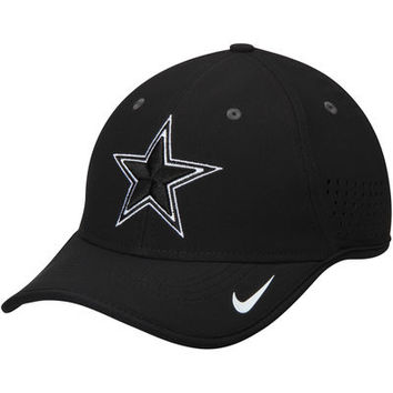Men's Dallas Cowboys Nike Black L91 Vapor Bill Adjustable Hat