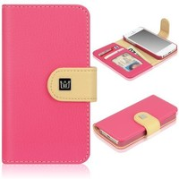 iPhone 5 \ 5s Case, CaseCrown Wallet Case (Pink)