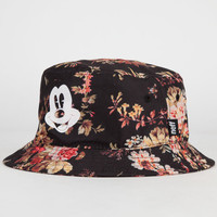 Neff Disney Collection Mickey Floral Mens Bucket Hat Black Combo One Size For Men 24384714901