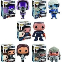 Mass Effect Funko Pop Games Vinyl Figure Set Of 5