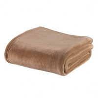 LIGHT BROWN FLEECE BLANKET