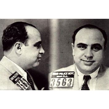 Al Capone Mug Shot Poster 11 inch x 17 inch poster