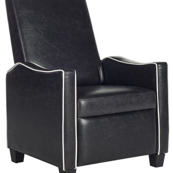 Holden Recliner Chair Black / White