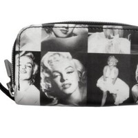 Marilyn Monroe Photo Collage Rare Coin Change Lipstick Cosmetic Zip Around Bag