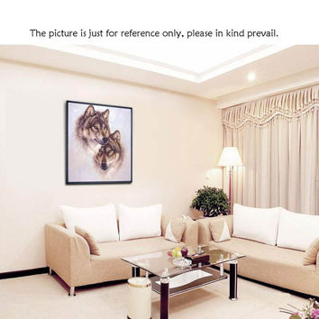 DIY precision printing wolf totem design hand-embroidered stitch / collection stitch embroidery suit home decoration
