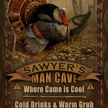 Man Cave Personalized Print / Poster / Sign / Turkey